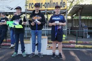 DMC Nitro-West Rookie-Cup: David Kröger, Augustin Mejor, Ben Klaus (l-r)