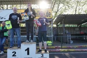 VG10-Podium: Püpke, Diekmann, Lehmann (l-r)