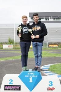 Beste Jugendliche beim SMW #4 @ Velp: Augustin Mejor (VG8K1), David Kröger (VG8K2) - (r-l)