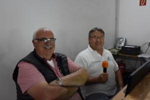 Rennleitung und Zeitnahme: Uwe Rheinard und Uwe Baldes