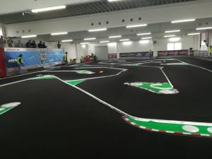 Die Strecke der Arena33 mit Fahrerstand