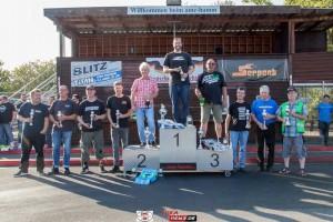 Pokalgewinner der Klasse VG8S - Die Finallisten bei der Siegerehrung